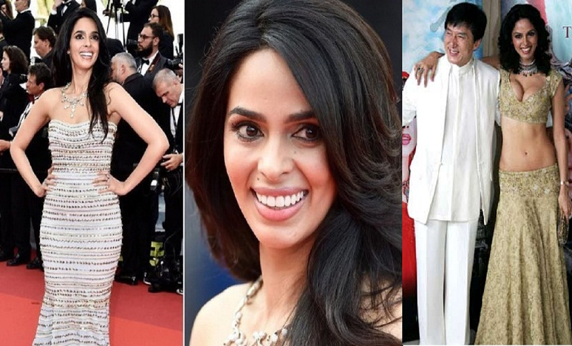 Mallika Sherawat has had quite the transformation on the Cannes red carpet: (L) her 2016 appearance and (R) in 2005. Image from Instagram, IBNlive