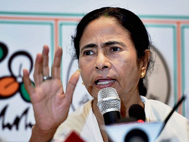 West Bengal Chief Minister and TMC Supremo Mamata Banerjee addresses the media after her party's win in the Assembly elections. PTI