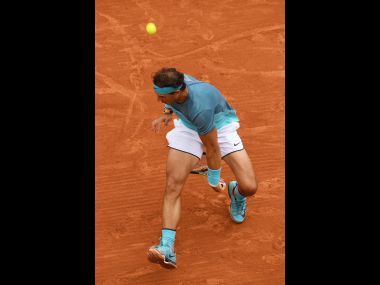 Rafael Nadal hit a near-perfect tweener. Getty Images