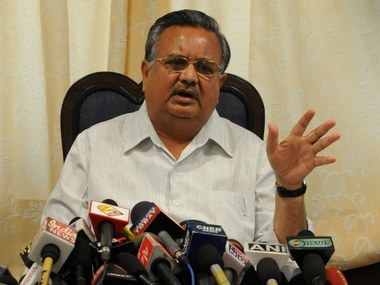 File Photo of  Chhattisgarh Chief Minister Raman Singh. AFP PHOTO/ Prakash SINGH