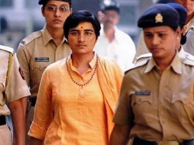File image of Sadhvi Pragya Singh Thakur. PTI