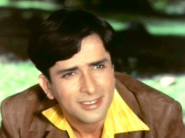 Shashi Kapoor in his heyday. Image from IBNlive