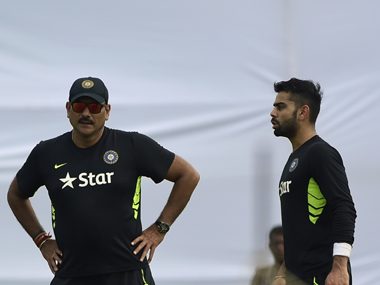 Ravi Shastri has seen Virat Kohli evolve as India's premier batsman under his tenure. AFP