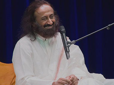 File image of Sri Sri Ravishankar. Image courtesy: Art of Living website