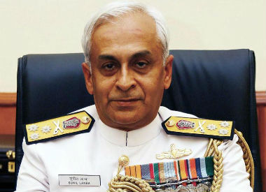 File image of Indian Navy chief Sunil Lanba. News18