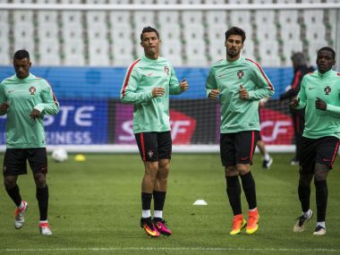 Cristiano Ronaldo ahead of Portugal's Euro 2016 tie against Iceland. AFP