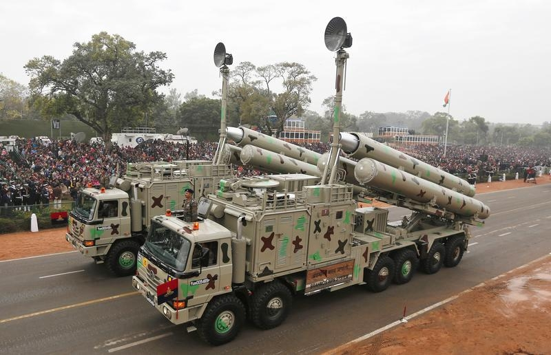 The BrahMos weapon systems are displayed during a full dress rehearsal for the Republic Day parade in New Delhi January 23, 2015. REUTERS/Adnan Abidi/Files