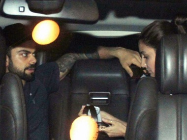 Virat Kohli dropping Anushka Sharma off at the airport earlier this month. Image from News18