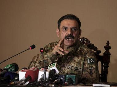 Pakistan army spokesman General Asim Bajwa. Reuters