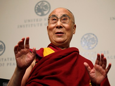 The Dalai Lama speaks at the US Institute of Peace in Washington, DC. Reuters