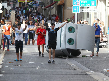 Scenes of violence between the English and Russian fans in Southern France. AFP