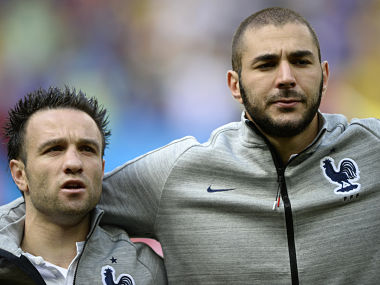 Karim Benzema and Mathieu Valbuena. AFP