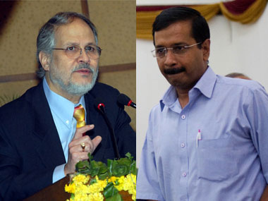 Najeeb Jung and Arvind Kejriwal. File photo