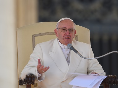 Pope Francis in a file photo. AFP