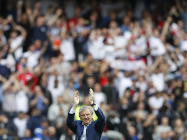 Roy Hodgson applauds fans after win over Wales. Reuters