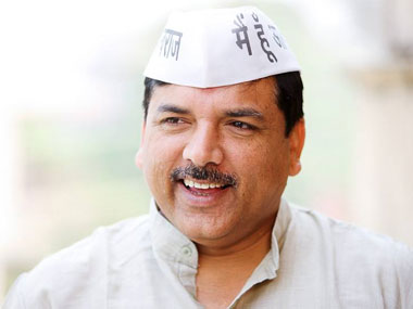 File image of AAP leader Sanjay Singh. Facebook