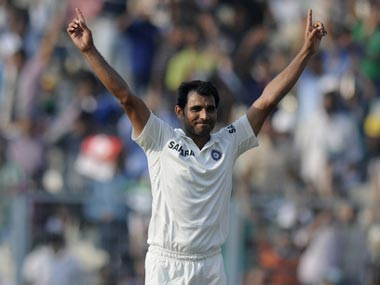 Mohammed Shami was awarded the Man of the Match for his match figures of 7. BCCI