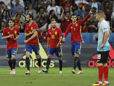 File image of Spain national team. AP