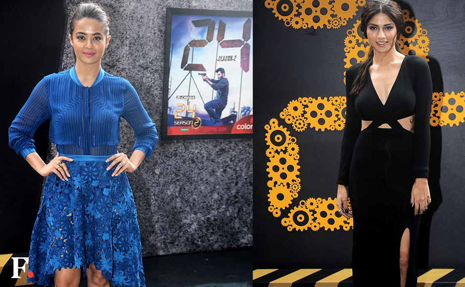 Surveen Chawla and Sapna Pabbibrought up the glam brigade at the trailer launch for season two of Anil Kapoor's thriller TV show, 24.Image by Sachin Gokhale/Firstpost