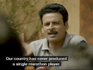 Manoj Bajpayee as Biranchi Das in 'Budhia Singh — Born To Run'. Screengrab from YouTube