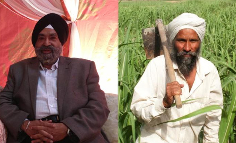 Manmohan Singh Kapur (left) in an image from his Facebook account AND Manmohan Singh from Khajuria Naviram village (right). Naresh Sharma/ Firstpost