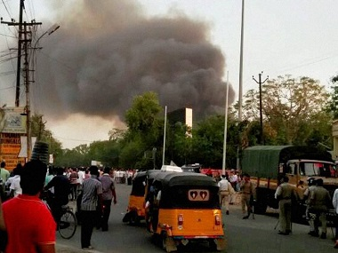 File image of the clashes in Mathura. PTI
