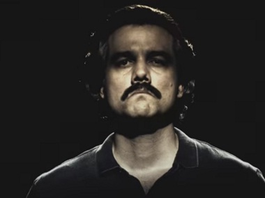 Wagner Moura as Pablo Escobar in Narcos.