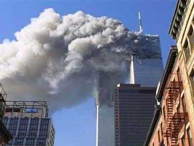 File photo of the 9/11 attack. AP