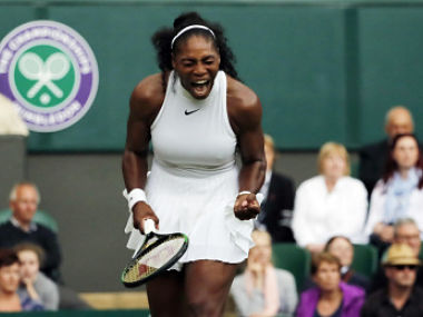 Serena Williams also remains on course to equal Steffi Graf's Open era record of 22 Grand Slam titles with her seventh Wimbledon crown. AP