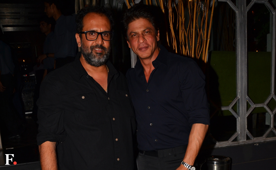 Shah Rukh Khan poses with the birthday boy. Firstpost Image.