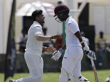 Kraigg Braithwate scored a solid 74 for West Indies in first innings before Umesh Yadav got his wicket. AP