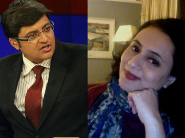 Arnab Goswami (left) and Sagarika Ghose.