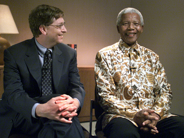 Bill Gates with Nelson Mandela. Reuters