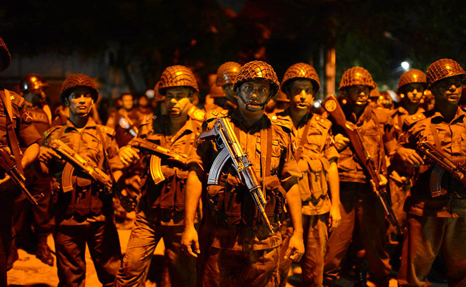 After 13-hour seige, the Holey Artisan Bakery in Dhaka, where heavily-armed Bangladeshi commandos on Friday took at least 20 foreigners hostage, has been cleared by the Bangladeshi security forces. Around 18 hostages were rescued from the bakery and six militants were killed. Getty images.