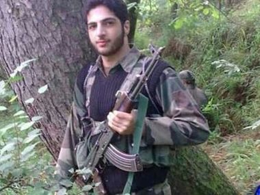File image of Hizbul Mujahideen commander Burhan Wani. CNN-News18