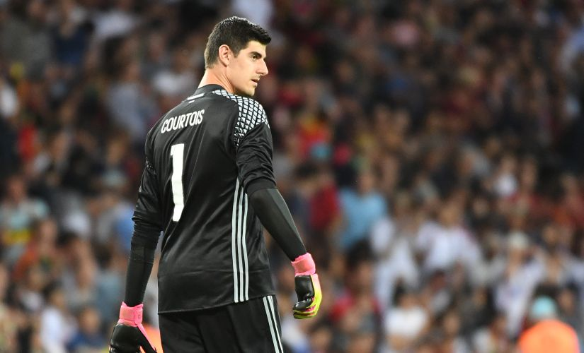Thibaut Courtois will have to find a way to deny Gareth Bale. AFP