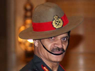 File image of army chief Dalbir Singh Suhag. Press Information Bureau