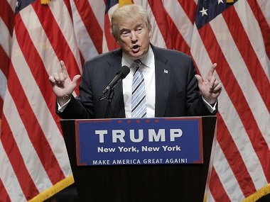 Republican US presidential candidate Donald Trump. Reuters