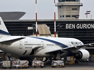 FIle photo of an EL AL Boeing 777 aircraft at Ben Gurion International Airport near Tel Aviv. Reuters