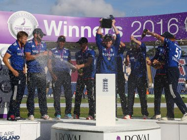 England celebrate series win over Sri Lanka. AFP