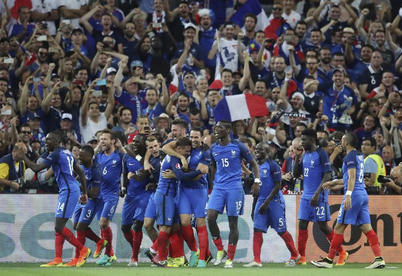 France players celebrate. AP