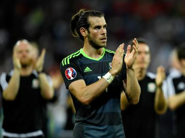 Gareth Bale applauds fans after losing to Portugal in Euro 2016 semi-final. Getty
