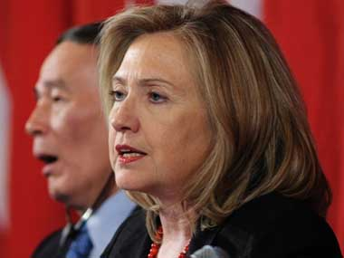 A file photo of US Secretary of State Hillary Clinton AFP