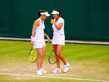 Sania Mirza and Martina Hingis. Image courtesy: Facebook