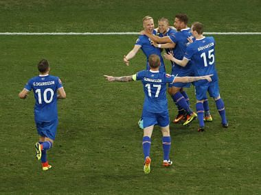 File photos of team Iceland .Reuters
