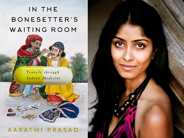 Aarathi Prasad (R) examines the different medical cures Indians access