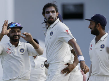 India are six wickets away from a win in the second Test at Jamaica. AP