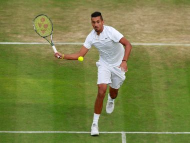Nick Kyrgios has courted controversy again by calling his support team 'retarded'. Getty