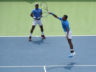 File photo of Leander Paes and Rohan Bopanna. AFP
