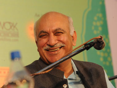 A file image of MJ Akbar. AFP